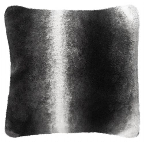 Luxury Faux Fur Sofa Scatter Cushion Super Soft Arctic Cosy Cuddly Feel, 56cm x 56cm, Nebraska Black